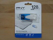 PNY 128GB USB 2.0 Flash Drive Attache 4 Blue - (P-FD128ATT4BW-GE) - Brand New!