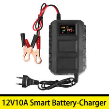 Intelligent 12V Car RV Battery Lead Acid Charger Automobile Motorcycle 10A LCD