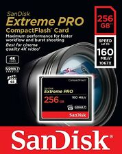 SanDisk 256GB Extreme Pro CompactFlash Memory Card (160MB/s) Authorized Dealer
