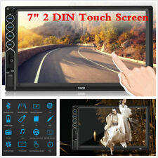 """New listing Touch Screen 7"""" Double Din Car Mp5 Player Fm Bluetooth Stereo Radio Mirror Link"""