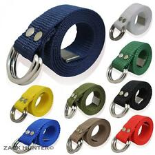 "MENS NYLON BELTS 1.5"" LADIES BELTS GIRLS BOYS WEBBING CANVAS LOOK FUNKY BELTS"