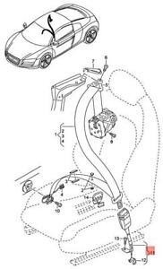 Genuine AUDI A3 Cabriolet S3 Sportback Lim. Quattro. belt latch 8P0857755F01C
