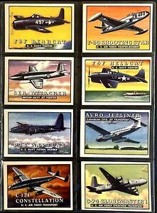 VINTAGE CARD LOT 1952 TOPPS WINGS FRIEND OR FOE F8F BEARCAT CARDS 25-32 LOT 4