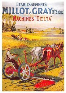 CP AFFICHE ETABLISSEMENTS MLLOT A GRAY Machines Delta Edit CENTENAIRE