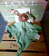 Doudou plat lapin lange vert les jolis trop beaux moulin roty neuf