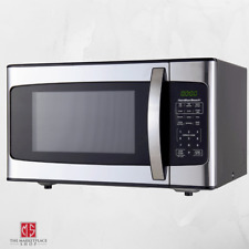 1000W Stainless Steel Microwave Home Appliance Potato Pizza Popcorn 1.1 Cu Ft