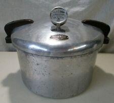 VINTAGE PRESTO 7-B PRESSURE COOKER PRESSURE CANNER 16QT + GAUGE NICE VINTAGE CON