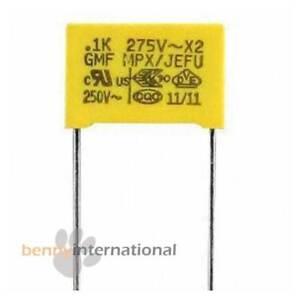 4x 0.1uF 275V AC X2 SAFETY CAPACITORS 100nF Polypropylene Film MPX Metalized