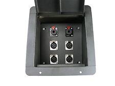 "Elite Core Recessed Stage Floor Box 4 XLR & 2 TRS 1/4"" Female Connectors"