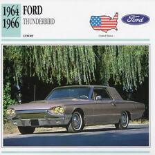 1964-1966 FORD THUNDERBIRD Classic Car Photograph / Information Maxi Card