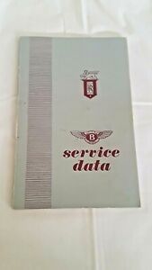 Rolls-Royce Silver Cloud & Bentley S Service Data Technical Manual 1977
