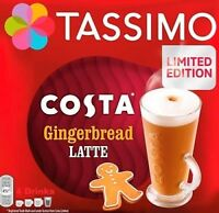 8 x Tassimo Costa Gingerbread Latte T Discs Pods Sold Loose - 4 Large Drinks