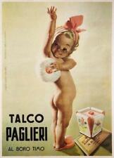 TALCO PAGLIERI VINTAGE ITALIAN POSTER GINO BOCCASILE 1950 13X19 INCHES