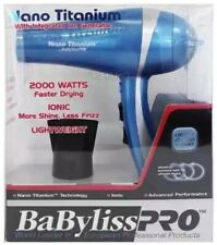 NEW Babyliss Pro Nano Titanium Ionic Lightweight 2000 Watts Hair Dryer Blower