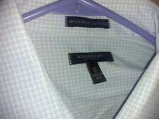 Very Nice! Burberry London Long Sleeve Button Shirt Men's L  XL Plaid 17/35