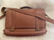 COACH Made in USA Tan full grain Leather Essex Briefcase messenger bag 5274
