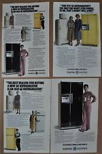 1978 GE FRIDGE advertisements x3, with 1930s monitor top 50s 60s Refrigerators