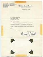 Thomas J. Dogg Signed Chamber Letter Autographed Signature Politician Senator