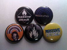 "5 x Massive Attack 1"" Pin Button Badges (trip hop bristol blue lines protection)"