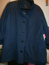Style & Co.WHITE  Rain Coat Jacket Size LARGE NWT navy