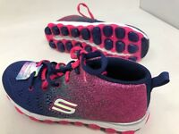 *New! Girls Youth Skechers Navy Hot Pink High Top Sneaker 80014L Size 1 C45
