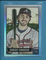 Dansby Swanson RC 2017 Bowman Chrome '51 Bowman Refractors Rookie # 18 Braves