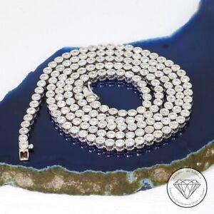 Wert 29.550,- Elegante Tennis Brillant Collier Kette 7,00 Carat 750 Gold xxyy