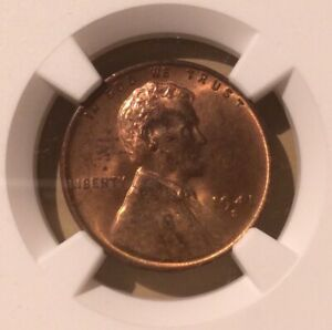 USA 1941 S One Cent NGC MS 64 RB - Lincoln Wheat