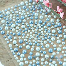 Self Adhesive Pearls - Blue and Aqua