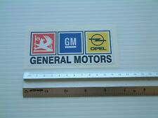 Vauxhall General Motors Self Adhesive sticker for vehicle or toolbox
