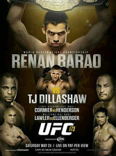 UFC 173 Official Full-Sized Event Poster RENAN BARAO vs TJ DILLASHAW 5/24/2014