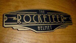 ROCKETEER HELMET DISPLAY NAMEPLATE PLACARD SIGN PROP