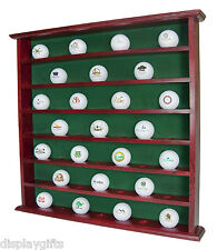 Golf Gifts & Gallery Mahogany 49-Ball Display Cabinet, no door, GB20-MA