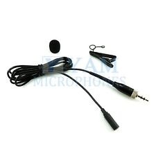 YAM LM3-C4W Black Omni-Directional Lavalier Mic FOR SONY WRT-805, UWP Series