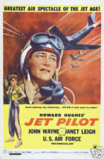 Jet pilot John Wayne cult movie poster print