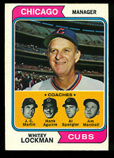 1974 TOPPS OPC O PEE CHEE BASEBALL 354 WHITEY LOCKMAN COACHES EX-NM CHICAGO CUBS