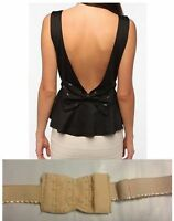 NUDE LOW BACK BRA EXTENDER - Beige Skin Colour Strap Backless Dress Converter