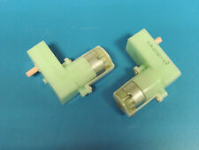 Right Angled Motor and Gearbox 1:220 3 volt - 12 volt model projects X 2