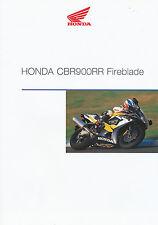 Honda CBR 900 rr fireblade prospectus 12/99 D Brochure Brochure moto 1999