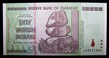 ZIMBABWE 50 TRILLION DOLLAR BANKNOTE- aUNC PAPER CURRENCY