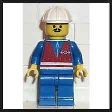 Red Vest and Zipper - Blue Legs, White Construction Helmet Lego mini figure
