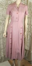 Vintage 50's Kane Weil Pink Moygashel Linen House Dress