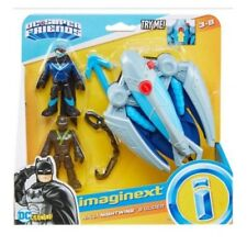 IMAGINEXT DC Super Friends NINJA NIGHTWING & GLIDER PLAYSET IN HAND!!