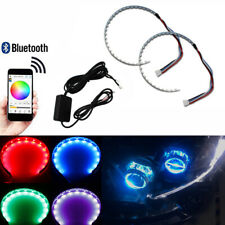 2pc Wireless RGB Multi-color LED Strips Demon Eye Halo Ring Headlight APP Remote