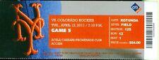 2011 Mets vs Rockies Ticket: Troy Tulowitzki, Carlos Gonzalez & Jose Reyes HRs