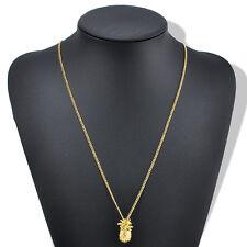 Hawaiian Cute Stylish Ladies Simple Tiny Pineapple Fruit Long Chain Necklace