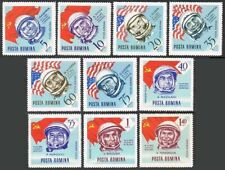 Romania C151-C160 & imperf,MNH.Mi 2340-2347 A,B. Astronauts and flags,1964.