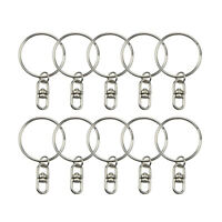 10Pcs/lot Keyrings Silver Keychain Split Ring Key Chains DIY Jewelry Making.QA