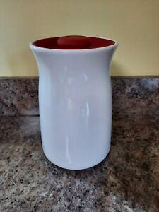 Anchor Hocking Studio Storage Jar Canister White Red Kitchen Cookie Ceramic