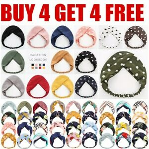 Adult Stretchy Twist Knot Head Wrap Headband Knotted Hairband Ladies Hair Band